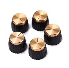 More details for 5 x replacement marshall amp control knobs for 6mm shaft - black/gold cap