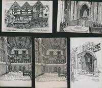 COVENTRY Sketch Views Vintage Postcards     AH.1666