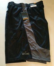 SPALDING Men's Performance Shorts Basketball Athletic SIZE - L  Black/Gray NWT