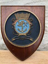 Hr Ms Venlo Wooden Plaque Sheila Crest Dutch Navy Vlaardingen Holland