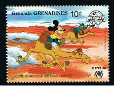 WALT DISNEY GRENADA - GRENADINES MICKEY GOOFY 1 Francobollo 1988 nuovo