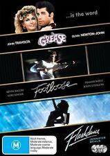 Grease / Footloose / Flashdance (DVD, 2009, 3-Disc Set)