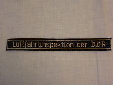 ÄRMELBAND INTERFLUG DER DDR LUFTFAHRTINSPEKTION DER DDR