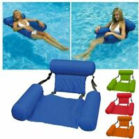 Swimming Floating Chair Foldable Pool Seats Inflatable Water Bed Lounge Chairs