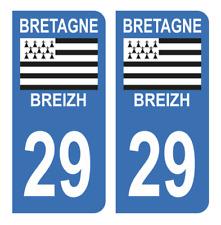 Autocollant Stickers plaque immatriculation véhicule département 29 Finistère 2