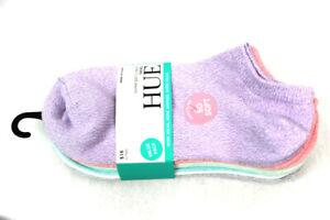 HUE 6 Pairs Super Soft Liner Socks One Size Sweet Lilac U20032