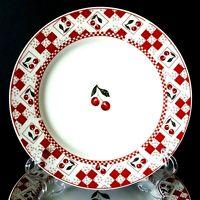 "Oneida Majesticware Cherries Jubilee 7 Salad Plates 7.5"" Leslie Beck More Avail"