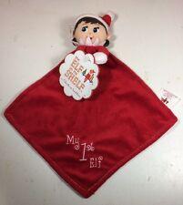 NWT The Elf on the Shelf My 1st Elf Cuddler BOY Blue Blanket Plush Baby Rattle