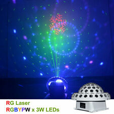 9 Color DMX Remote RG Laser Gobos LED Crystal Big Magic Ball DJ Stage Lighting