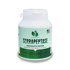 SERRAPEPTASE 250000SPU high potency vegan natural best proteolytic enzyme 60days