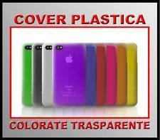 COVER CUSTODIA PLASTICA TRASPARENTE PER IPHONE4 + PELLICOLA KIT COMPLETO - ITA