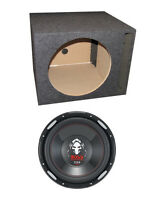 "Boss P126DVC 12"" 2300W Car Power Subwoofer + Single Vented Sub Box Enclosure"