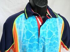Vintage TOMMY HILFIGER Men's Medium S/S Multi Color Polo Cycling Shirt M TH-1370
