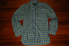 Men's Barbour Green/Blue Plaid Long Sleeve Button Shirt (Large)