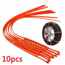10PCS Car Truck Snow Ice Wheel Tyre Tire Anti-skid Chains Thickened Tendon Kit