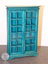 Dollhouse Miniature Curio Cabinet Blue Shelf 1:12 inch scale D22 Dollys Gallery
