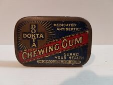 Biscuit Tea Sweets Cigar Tin Chewing Gum Dokta Medicated Antiseptic Health