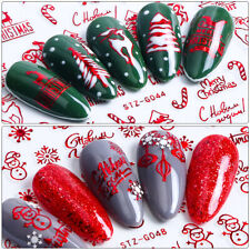 Nail Art Stickers Transfers Xmas Merry Christmas Santa Claus Collection Decor