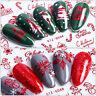Nail Art Stickers Transfers Xmas Merry Christmas Santa Claus Collection Decor