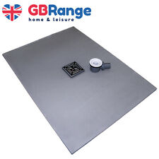 Wet Room Kit Walk in Shower Tray Base Drain Linear Round Floor Level 1200x900mm