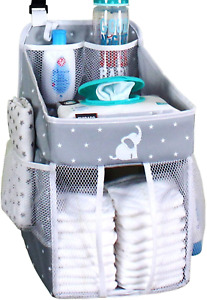 Hanging Diaper Caddy Crib Organizer Stacker Playard Wall Newborn Unisex Holder