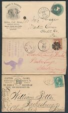 "(6) DIFFERENT  ""ANIMALS"" ADV'T COVERS (PIGS, CATTLE, SHEEP SKINS) BT3766"