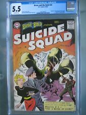 Brave and the Bold #25 CGC 5.5 1959 Origin & 1st app Suicide Squad