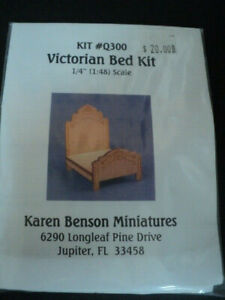DOLLHOUSE (1:48TH SCALE) KIT-VICTORIAN BED- Q300