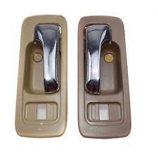Set of 2 INNER Inside Door Handle Front Left & Right For Honda Accord 90-93 New