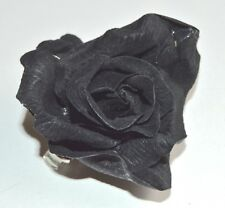 NEW Fabric black rose on a forked hair clip fashion accessory halloween