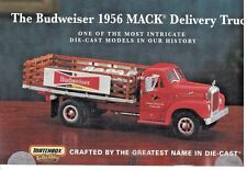 """Matchbox Collectibles """"THE BUDWEISER 1956 MACK DELIVERY TRUCK"""" BROCHURE"""