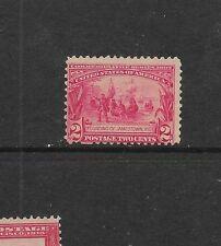US sc#329 mint 2c carmine Jamestown Expo issue nh og f/vf 1907 clean & fresh
