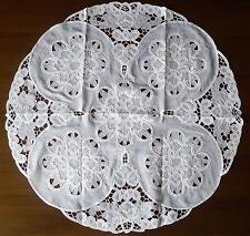 centro tavola organza 88cm-rotondo (rinascimento) - Bianco
