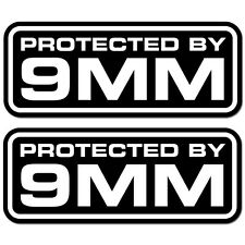 Protected by 9MM Security Decal Vinyl Sticker Home Car Alarm Surveillance