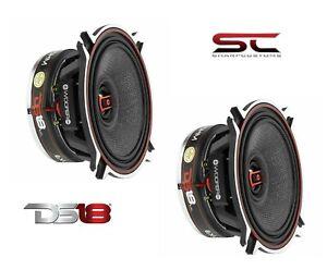 "DS18 4"" 2 way EXL-SQ4.0 Coaxial Speakers 520 Watt 3 Ohm Fiber glass Cone Pair"