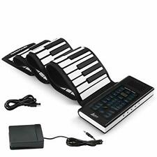 Portable Electronic Roll Up Piano Keyboard with Charger for Beginners (88-Keys)