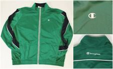 Green Black Champion Brand Sports Athletic Track Running Jacket XL
