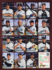 2001 SEATTLE MARINERS Keebler Cookies Set: All 28 cards~ICHIRO Suzuki ROOKIE