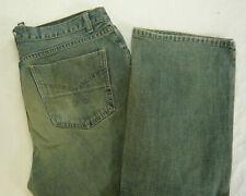 SMOG Herren Jeans Hose Big Apple Regular Denim W33 L32 33/32 Blau/Gelb RAR A521