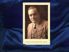 ENRICO CARUSO Opera Legend Vintage Cabinet Card Photo 1911 History CDV