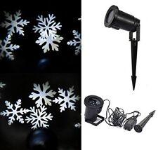 Fiocchi di Neve Faro natalizio proiettore ip67 LED effetto Bianchi addobbi