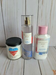 bath and body works firecracker pop body lotion fragrance mist single candle