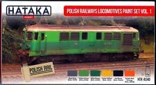 Hataka Hobby Paints POLISH RAILWAYS LOCOMOTIVES SET 1 Acrylic Paint Set