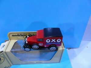 MATCHBOX YESTERYEAR Y22 FORD A OXO WITH GLOSS BLACK ROOF ISSUE 5 BOXED