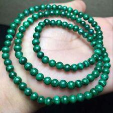 "6mm Natural Green Malachite Round Gemstone Loose Beads 15"" PL239"