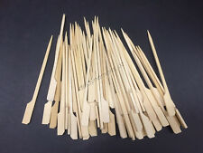 100x Bamboo Catering Paddle Skewers Sticks BBQ Grill Cocktail Picnic Party Kebab