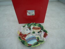 Fitz & Floyd Essentials Christmas Kitty & Ornament Cookie/Canapé Plate 9� Boxed