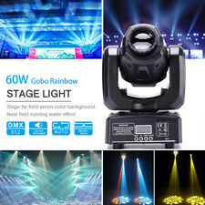 60W RGBW LED Moving Head Light Gobos Stage Lighting DMX Disco Light Party DJ KTV