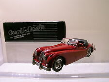 SMALL WHEELS SW1 JAGUAR XK140 DHC 1954 MAROON METAL HANDBUILT BOXED SCALE 1:43