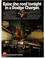 1977 Dodge CHARGER Brown 2-door T-top VTG PRINT AD